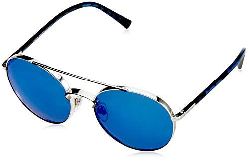 Valentino Damen 0VA2002 300655 55 Sonnenbrille, Blau (Silver/Bluee/Mirrorbluee)