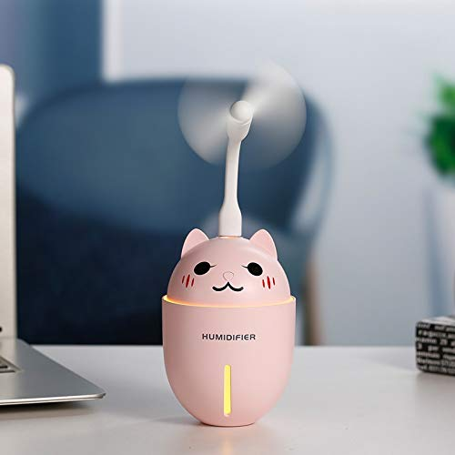 BRKJDP Aroma Essential Oil Diffuser Ultrasonic Adorable Pet Humidifier Air Purifier Led Night Light USB Fan Car Air Freshener