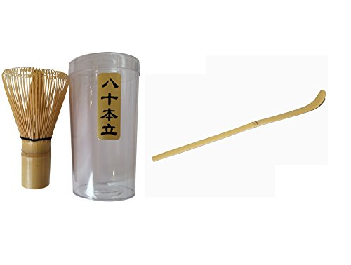 Bamboo Matcha Whisk And Spoon Gift Bundle 1x Whisk + 1x Scoop - Essential Matcha Green Tea Set Deal For Mixing Up Your Matcha! (Bowl and Matcha not included) Test