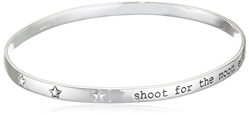 Elements Silver B3815 Ladies' Shoot for The Moon Sterling Silver Bangle, Diameter 6.88 X 5.94 cm