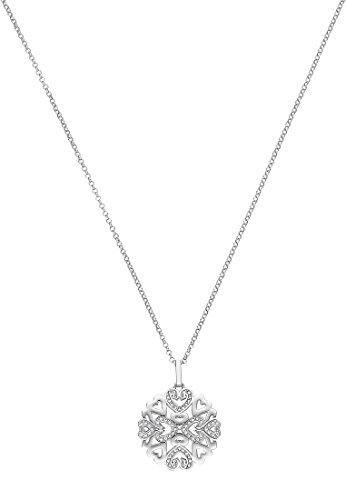 JETTE-Silver-Damen-Kette-925er-Silber-rhodiniert-62-Kristall-silber-One-Size