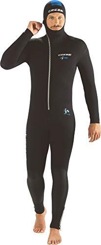 Cressi Diver Man Monpiece Wetsuit 7mm Combinaisons de Plongée Homme, Noir/Bleu, XL/5