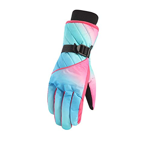 Anyeda Damen Handschuhe Strick Mit Noppen Taslan Wasserdichte Winddichte Outdoor-Sporthandschuhe Aus Baumwolle Einheitsgröße