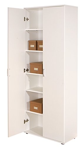 Inter Link 13500100 Schrank Aktenschrank weiß Büroschrank Büro Mehrzweckschrank 2-türig 5 Böden NEU - 2
