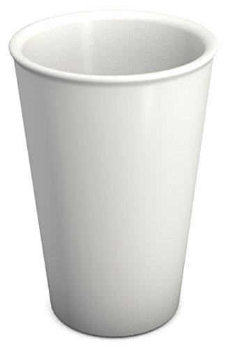 Ornamin Gobelet 400 ml blanc (Modèle 1210) / mug en plastique réutilisable, gobelet à café