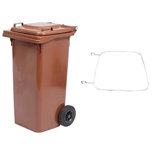 Socepi 220M1201K - Bidones de recogida diferenciada de residuos de PEHD, marrón, 120 L
