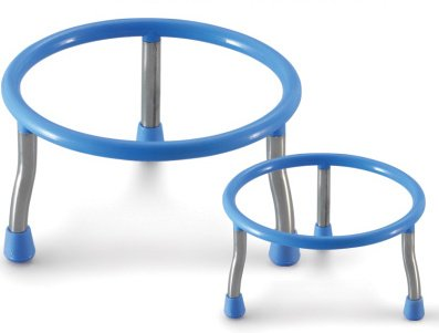 CONNECTWIDE® MULTIPURPOSE POT STAND (2 PCS.) Color-Blue Size-Small pot: Diameter:- 17, Big Pot: Diameter: 20