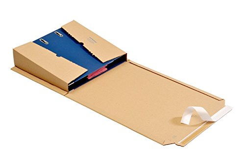 10 St OPB - ORDNERPAC® Ordner-Versandboxen, Ordner-Versandkartons, Ordnerverpackung, Ordnerversandverpackung 320*290*35-80 mm