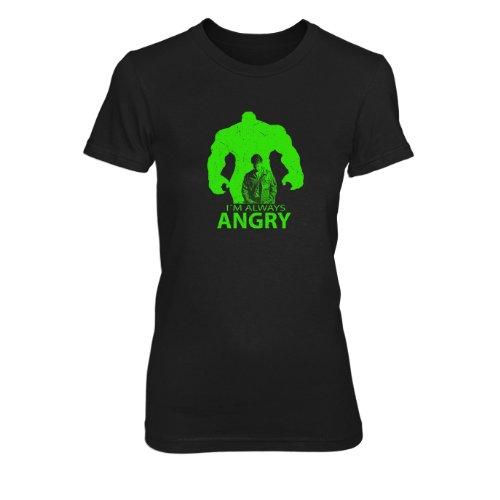 I'm always Angry - Damen T-Shirt Schwarz
