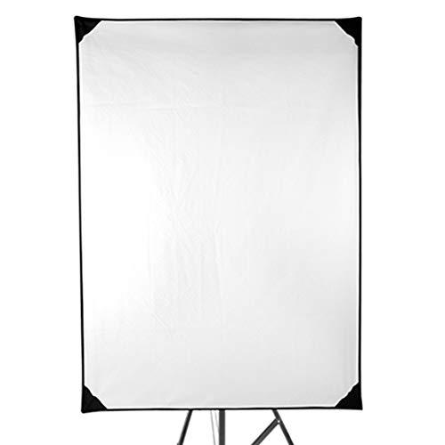 Wanlianer-Photographic 70x100CM Rahmen Diffusor und Reflektor Scrim Kit für Fotografie Beleuchtung weichen Tuch Sun Scrim Flat Panel Metallrahmen mit Einstellgriff, 4 Stoffe für Fotoaufnahmen -
