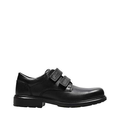 Clarks Remi Pace Inf Boy's School Shoes 8.5 Black Leather