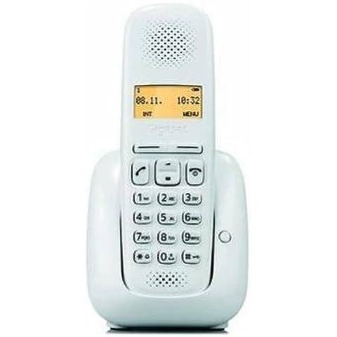 Gigaset A 150 Telefono Cordless, Rubrica fino a 50 Contatti, Tasto Ricerca Portatile, Bianco, [Italia]