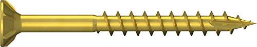 Unimet Spanplattenschrauben, 100 Stück, gelb, UM763368