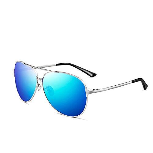 Szblk Sonnenbrillen Polarisierte Sonnenbrillen Sonnenbrillen Fahren Brillen Sport-Sonnenbrillen 100% UV-Reisebrillen Retro-Brillen (5.62in * 5.9in * 2.2in) (Color : Blue)