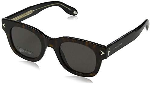 Givenchy gv 7037/s nr 9wz 47, occhiali da sole unisex-adulto, nero (havana black crystal/brown)