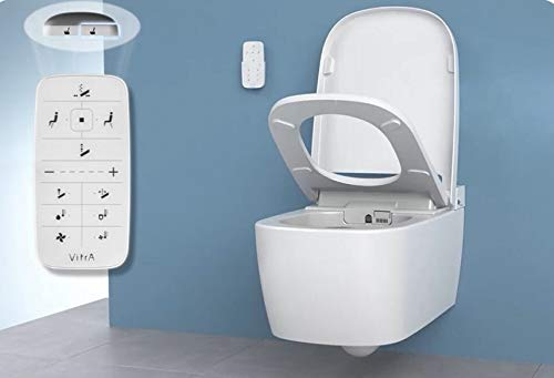 Vitra V-Care Comfort Spülrandloses Dusch-WC mit Taharet/Bidet 5674B403-6124 -
