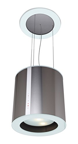 Cata Isla Moon Inselhaube / 40,0 cm / dimmbare LED Beleuchtung / edelstahl / weiß