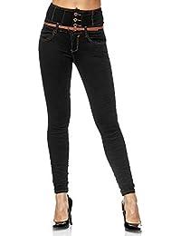 Elara Jeans Donna Vita Alta Push Up Skinny Fit Chunkyrayan
