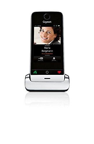 Gigaset SL910H Telefon - Schnurlostelefon / Universal Mobilteil - mit Farbdisplay /  schnurloses Telefon - Design Telefon - Router kompatibel - metall schwarz