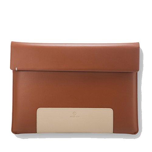 afterten Zwei Ton MacBook Pro Retina 33cm Ultrabook Leder Tasche Braun 17 Hp-laptop-shell