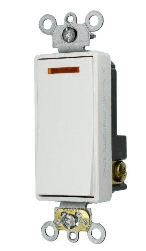 Leviton 20-amp 120-volt Decora Plus Rocker beleuchtetem Griff, beleuchtet Off 1pol. AC leise Schalter, 5631-2W -