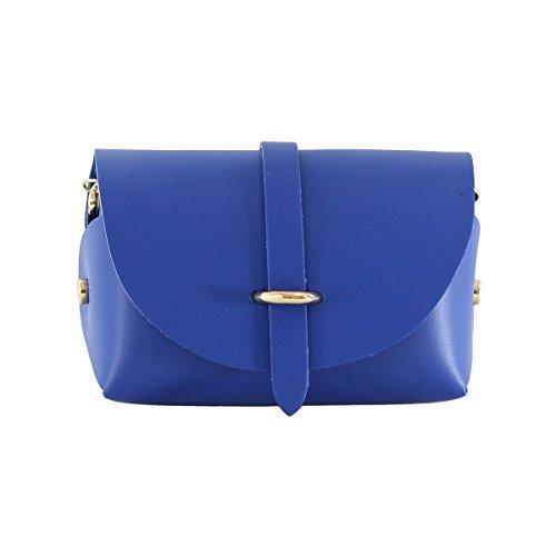 CTM Pochette bandouliere pour femme, petit sac avec ceinture d'epaule, piel veritable faite en Italie - 18x11x9 Cm