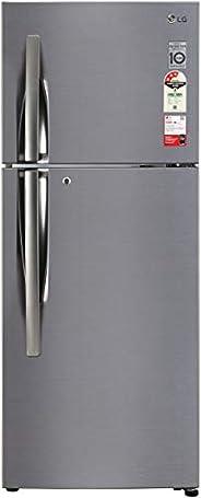 LG 260L 3 Star Smart Inverter Frost-Free Double Door Refrigerator (GL-I292RPZX, Shiny Steel, Door Cooling+)