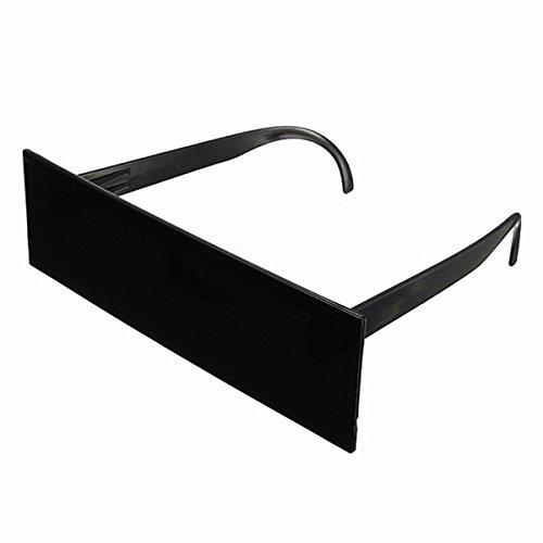 Kostüm 8 Pixelated Bit - Aestm Zensur Brille Sonnenbrille Lustige Party Brillen Cosplay Kostüm Zubehör, für Partys Zensurbrille Partybrille schwarz