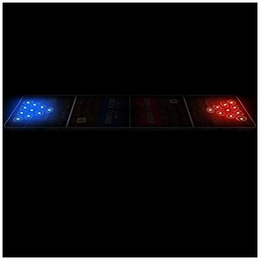 Light-Holes-Beer-Pong-Tisch Offizieller Light Hole Beer Pong Tisch | Mit LED Beleuchtung | Premium Qualität | Offizielle Wettkampfmaße | LED Beer Pong Table | Kratz und Wassergeschützt | Partyspiele | Trinkspiele | 100% Spaß -