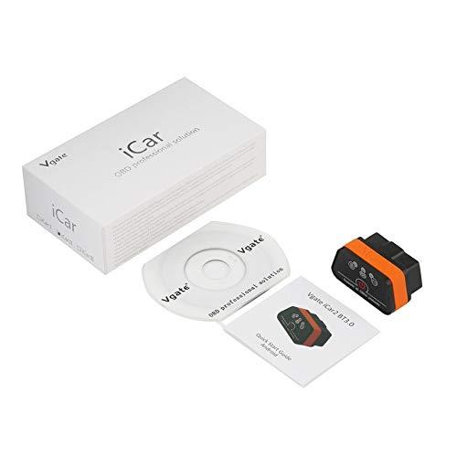 Preisvergleich Produktbild zhongzheng Vgate iCar2 Bluetooth-Codeleser verfügbar Bluetooth Auto OBDII Vgate iCar 2 - schwarz und orange