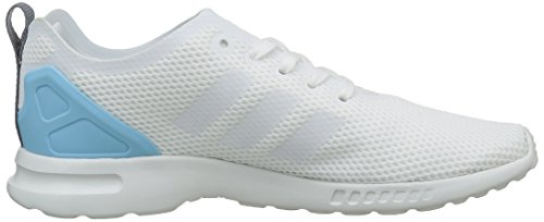 adidasZX Flux ADV Smooth - Scarpe da Ginnastica Basse Donna Bianco (Core White/Core White/Blush BlueCore White/Core White/Blush Blue)