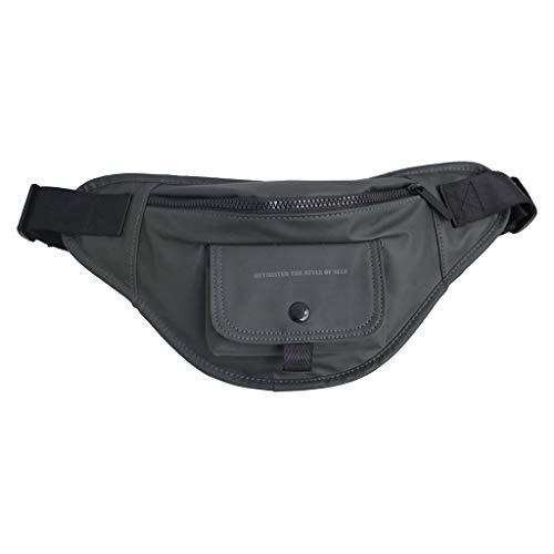 tasche, Chshe, 2019 Sommer Neue Unisex-Tasche Outdoor Sports Multifunktions-Brusttasche Umhängetasche, Pu Grau (Grau) ()