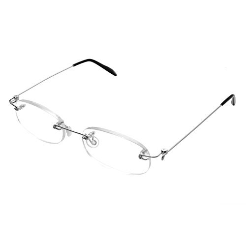 762a8b0ed3 Forepin® Gafas de Lectura sin Montura Hombres Mujeres Transparente Reading  Glasses Dioptria +3.5(