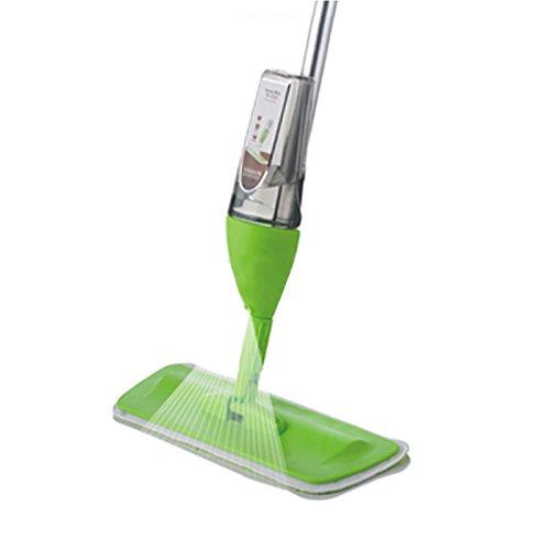 Lavapavimenti,Scopa lave-sol con vaporizzatore integrato, Mocio Spray (verde)