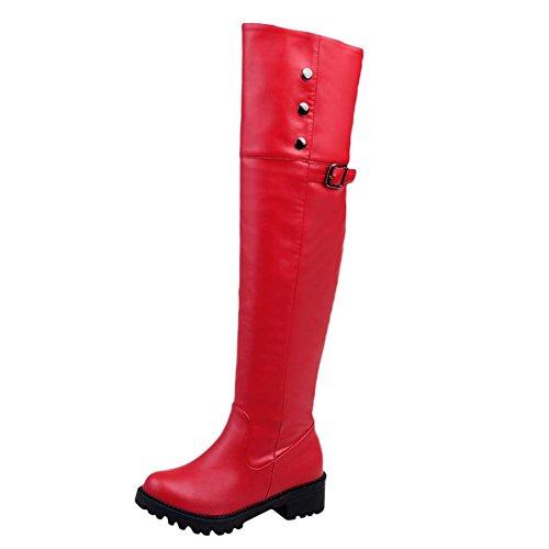 Bild von Mee Shoes Damen Chunky Heels Runde Overknee Stiefel