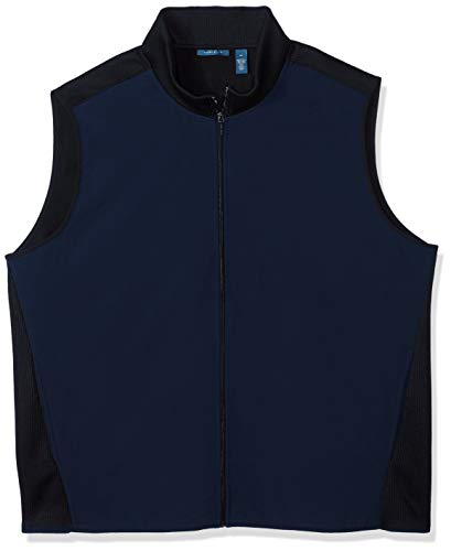 ig and Tall Stretch Fleece Vest Baumwolle, leicht, Jacke, Dark Sapphire/Dfk, 4X Groß ()