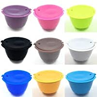 1Pcs 13 Colors Reusable Dolce Gusto Coffee Capsule,Plastic Refillable Compatible Dolce Gusto Coffee Filter Baskets Capsules
