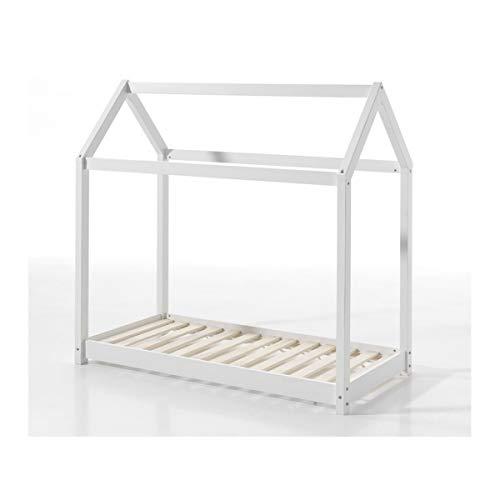 Vipack Cabane lit Maison 70x140 Blanc