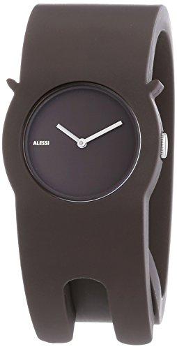 Alessi - AL24001 - Montre Mixte - Quartz - Analogique - Bracelet Divers matériaux Marron