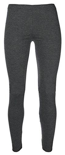 Miss Chief Girls Plain Legging Full Length (Ages 2 3 4 5 6 7 8 9 10 11 12 13 + Adult Sizes) Dance Stretch Teen (Charcoal)