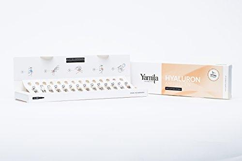 HYALURON AMPULLEN mit Lifting Effekt - Feuchtigkeitsbooster plus Liftingeffekt - 14 x 2ml von Yamila Cosmetics - Serum für Microneedling Gesichtspflege Vegan