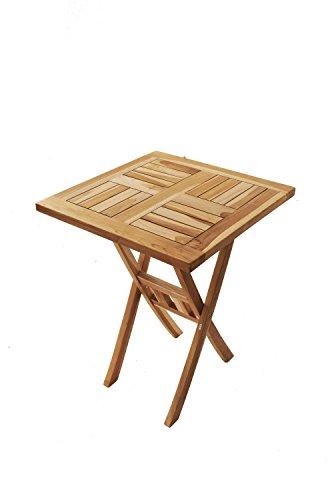 Sam Teak Holz Balkontisch Gartentisch Holztisch Square 60 X 60
