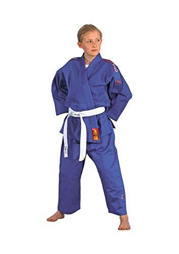 DanRho Judoanzug Yamanashi mit Schulterstreifen, blau, Größe:170 cm;Farbe:Blau