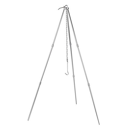 TOOGOO BBQ Grill Tripod Outdoor Camping Campfire Holder Camp Picnic Cooking Pot Tool