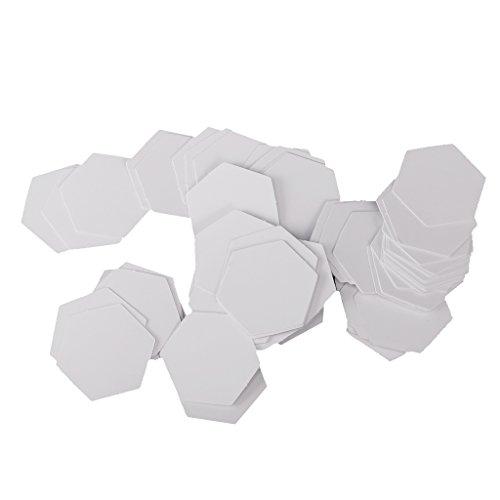 Hexagon Englisch Papier Stückung Steppvorlagen Schablonen - Weiß, 26mm (Stricken-projekt-tasche)