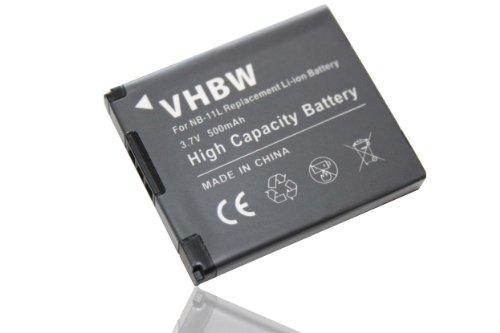 Galleria fotografica vhbw Li-Ion batteria 500mAh (3.7V) per fotocamera digitale DSLR Canon Ixus 185, 190 sostituisce NB-11L.