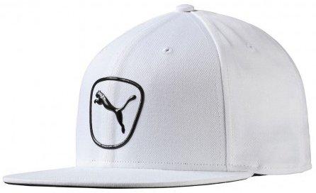 Puma Golf- Cat Patch 2.0Casquette Snapback, Homme, Blanc/Bleu Marine