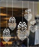 Stickers4 EIN Set von 5Herzen & Schleifen Fenster selbst Aufkleber. Valentinstag Fenster Aufkleber, für Weihnachten -