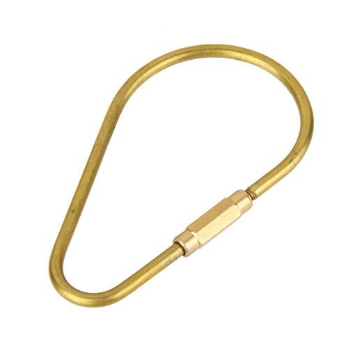 Vintage Eiform Messing Schlüsselring Schlüsselanhänger Clip Schlüsselbund