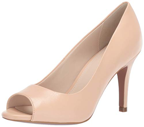 Cole Haan Damen Pumpe Harlow Open Toe, 85 mm, Beige (Nude Leather), 35.5 EU Cole Haan Open Toe Pumps